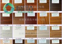 上海欣晴办公家具产品色卡
