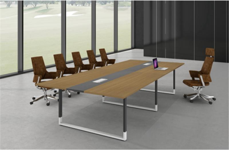 会议桌hy11|钢木结构会议桌|欣晴