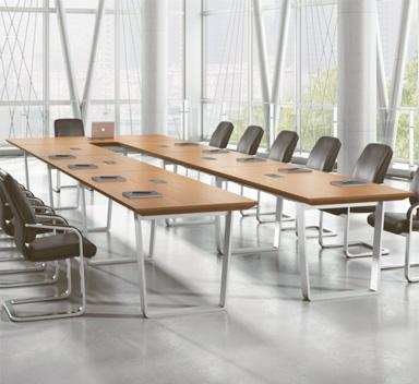 钢木结构会议桌GHY-07