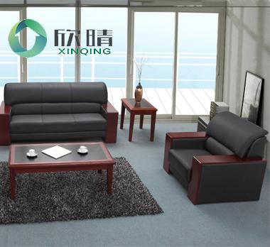 实木办公沙发-08