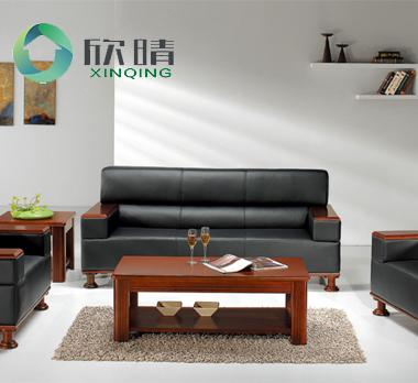实木办公沙发-11