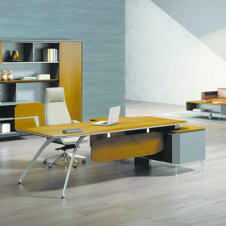 钢木结构办公桌GZ-23
