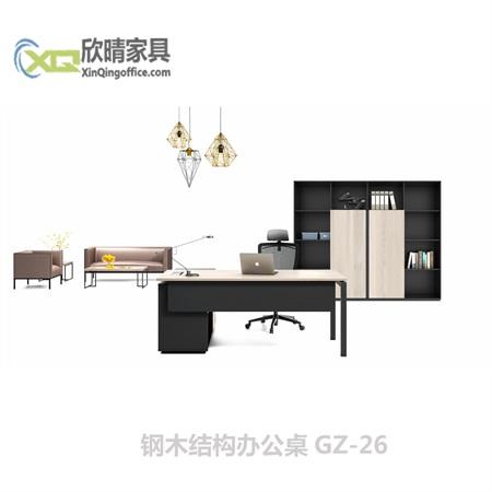 钢木结构办公桌GZ-26
